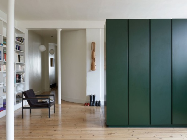 a minimalist Parisian loft with Heerenhuis Cargo chair - featured on Remodelista.com