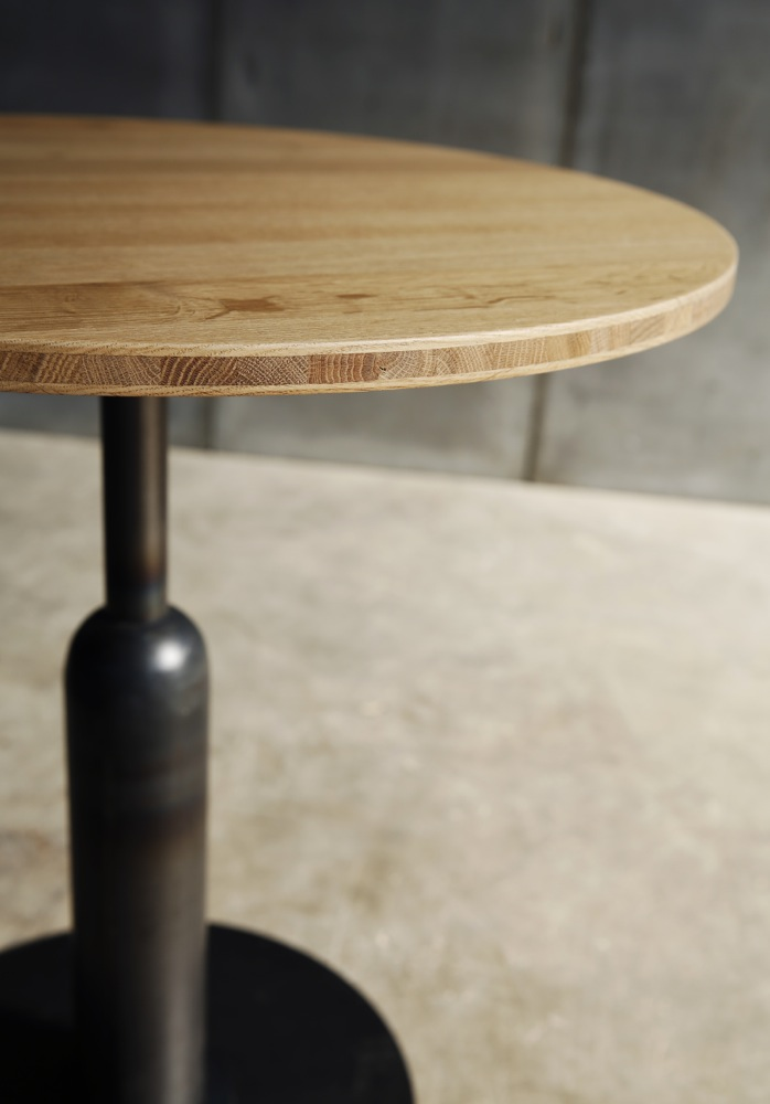 Apollo – a café table in marble, teak or cross laminated oak (detail) by Heerenhuis