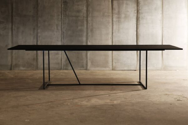 Mesa Nero table - made to measure in distressed French Oak by Heerenhuis