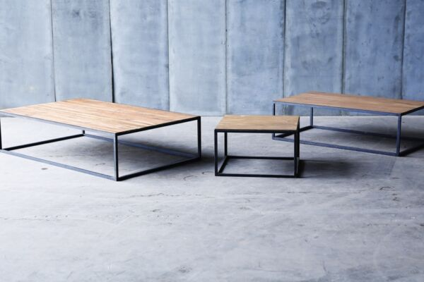 Mesa II Coffee tables in reclaimed teak by Heerenhuis