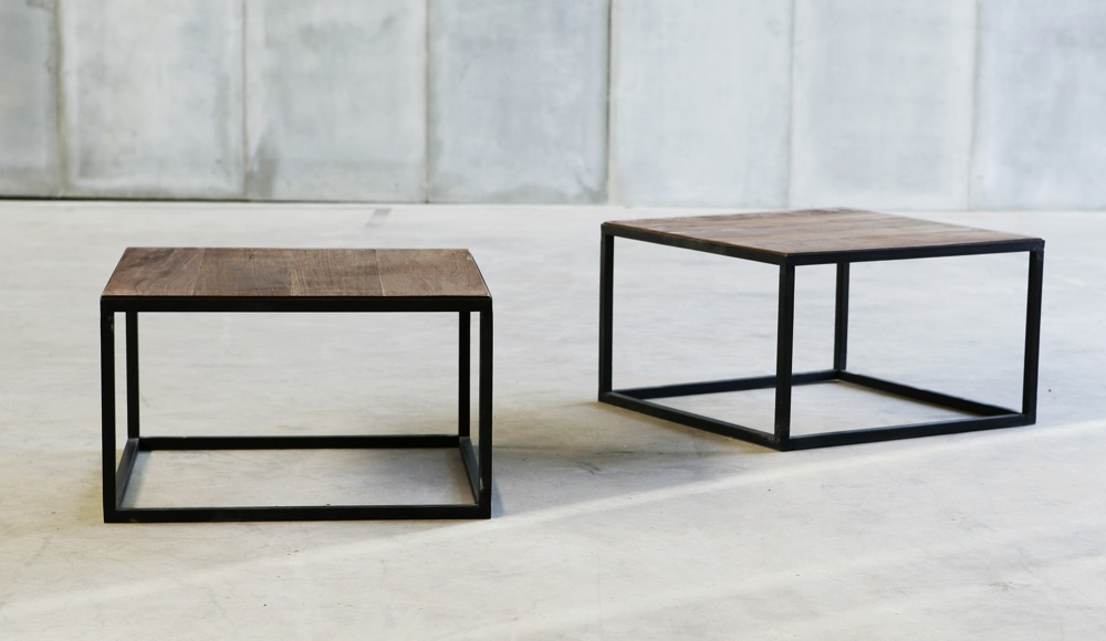 It is available in as a square or rectangular shape, in almost any size. Prices below are based on the surface area, so please get in touch for quotes on other dimensions, including rectangular shapes. They are also available made with higher tops, for use as console tables and desks.