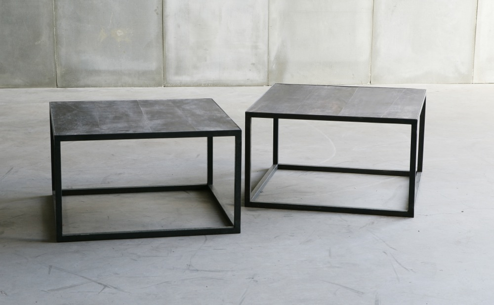 Mesa Leather II tables by Heerenhuis