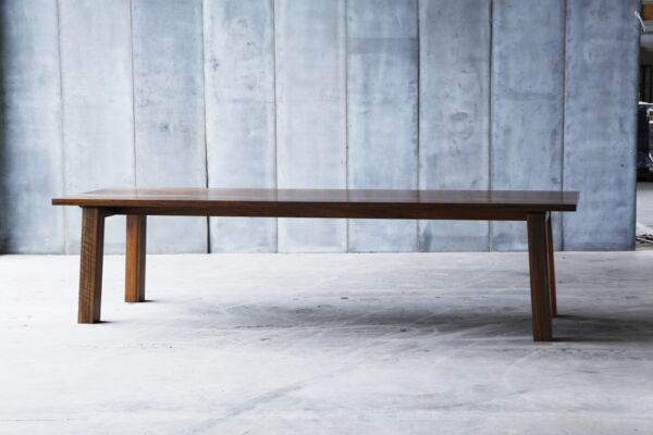 SPO table - made to measure in African walnut by Heerenhuis