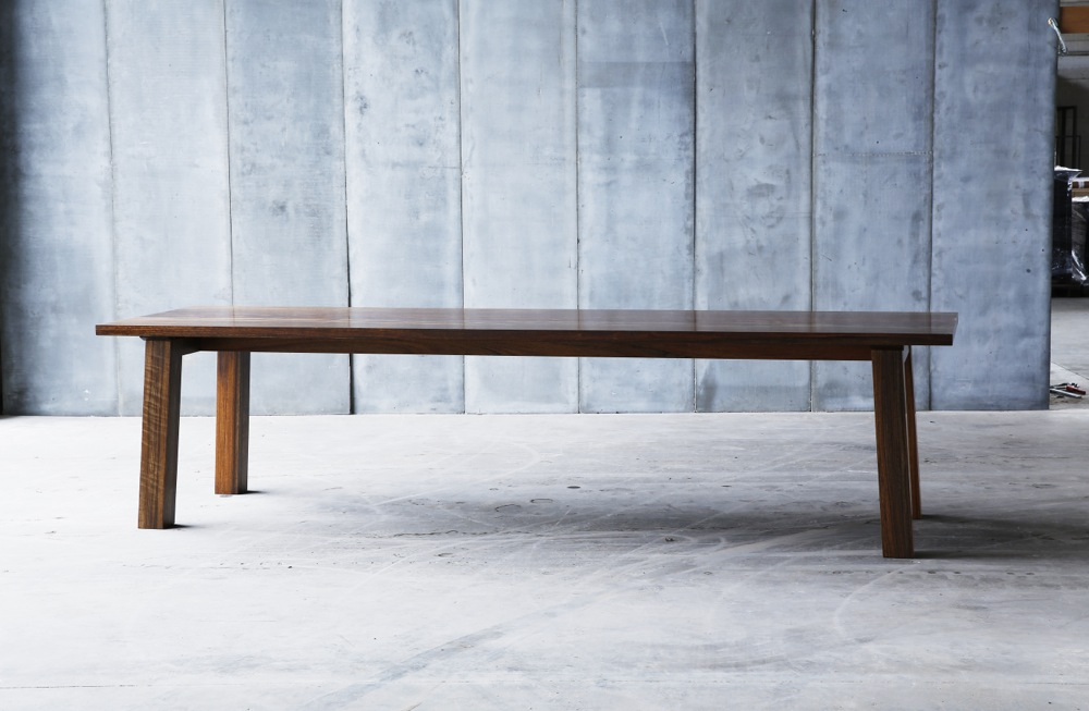 SPO table – made to measure in African walnut by Heerenhuis