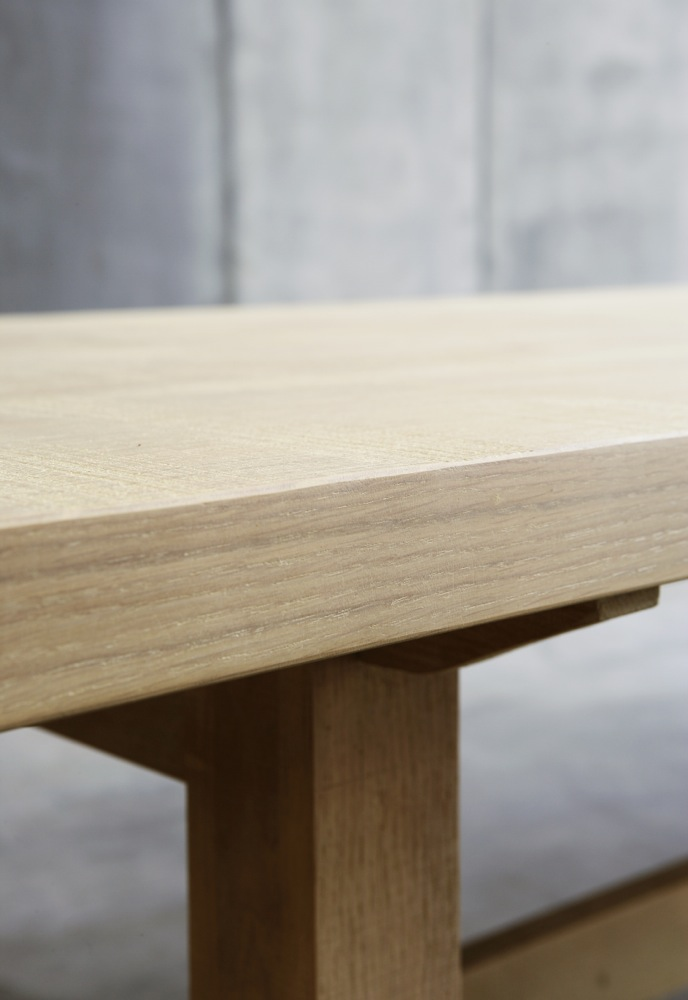 Trappist table – made to measure in French Oak by Heerenhuis