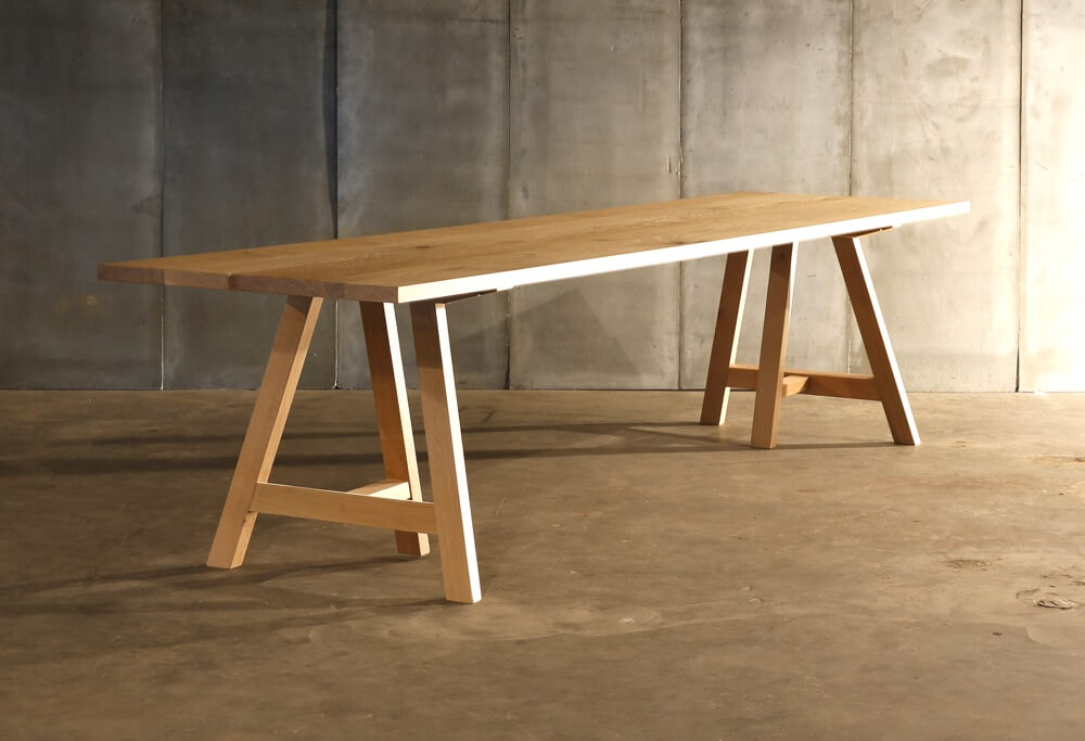 Trestle Table Made To Measure In French Oak By Heerens