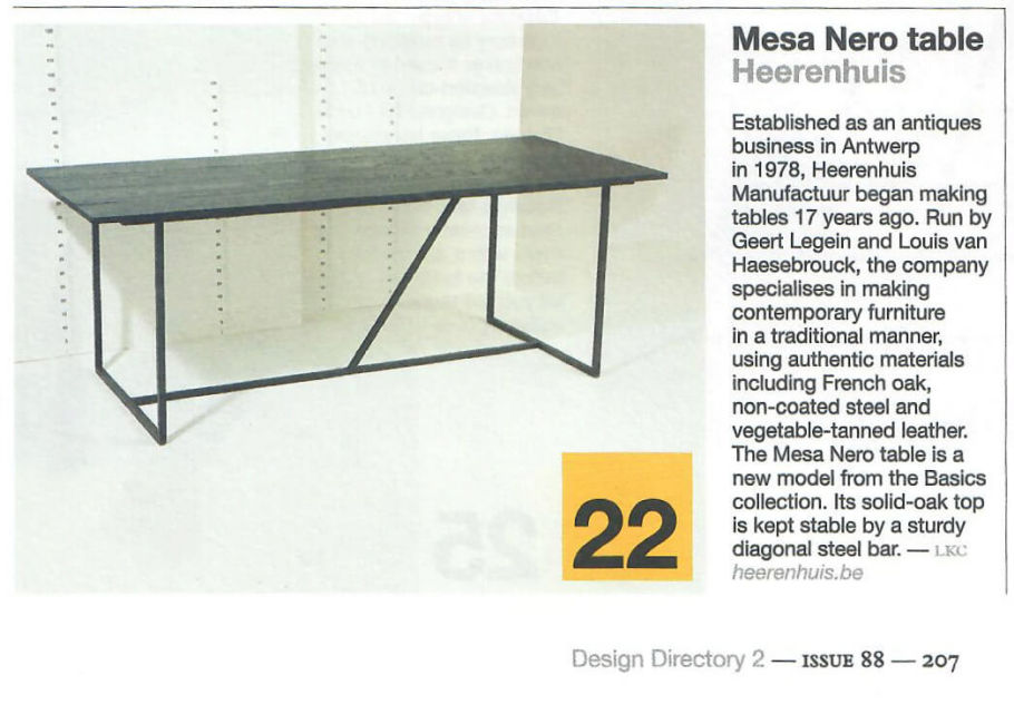 Mesa Nero by Herenhuis – Monocle magazine, November 2015