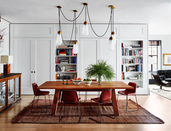 Iron dining chairs by Sol y Luna – Naomi Watts in Architectural Digest