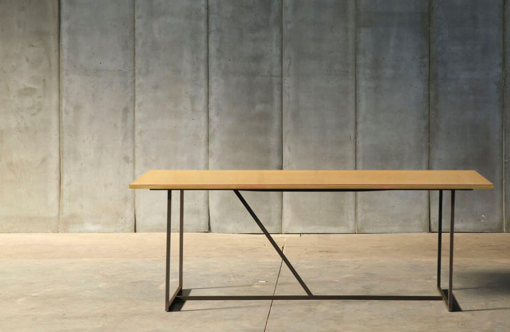 brass Messing table by Heerenhuis at Different Like a Zoo