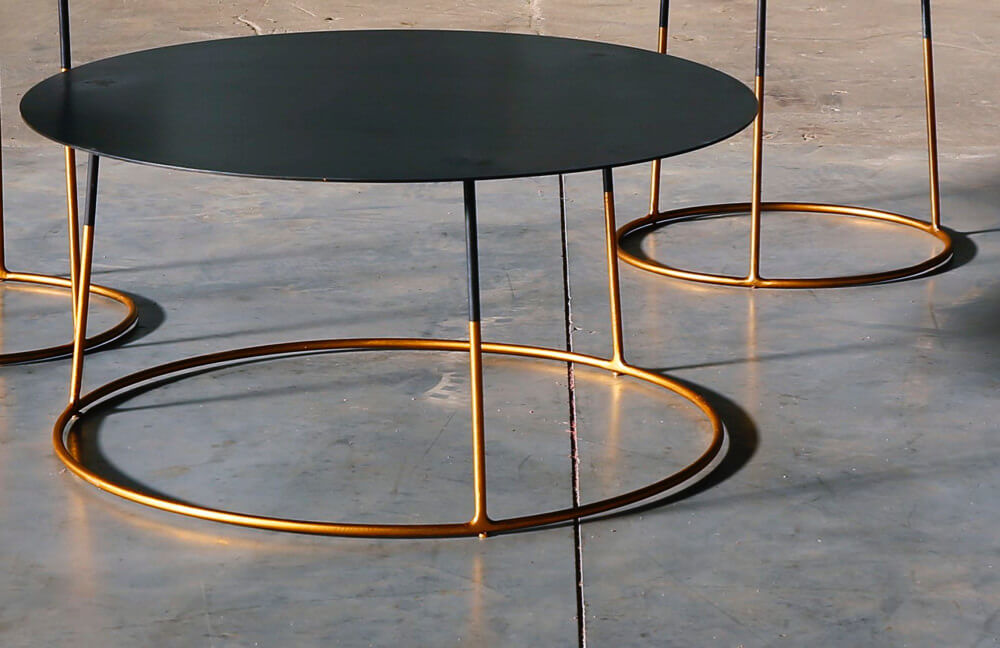 Nimbus Gold coffee table by Heerenhuis at Different Like a Zoo