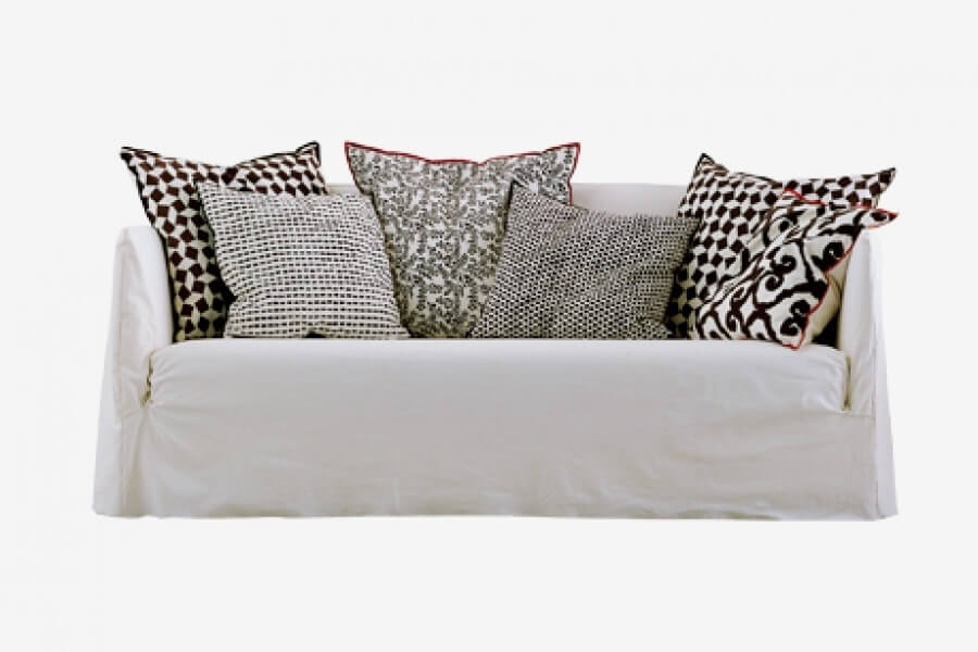 Ghost 10 sofa:  a three seater designed by Paola Navone for Gervasoni at Different Like a Zoo