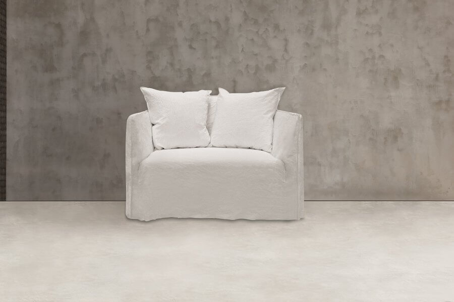 Ghost 09 love seat:  a two seater sofa designed by Paola Navone for Gervasoni at Different Like a Zoo