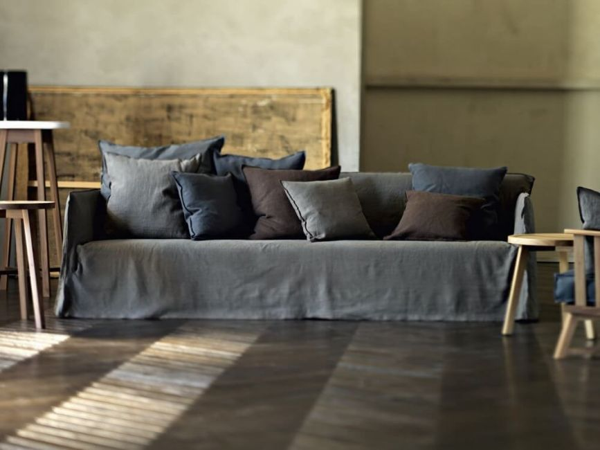 Ghost 14 sofa:  a five seater designed by Paola Navone for Gervasoni at Different Like a Zoo