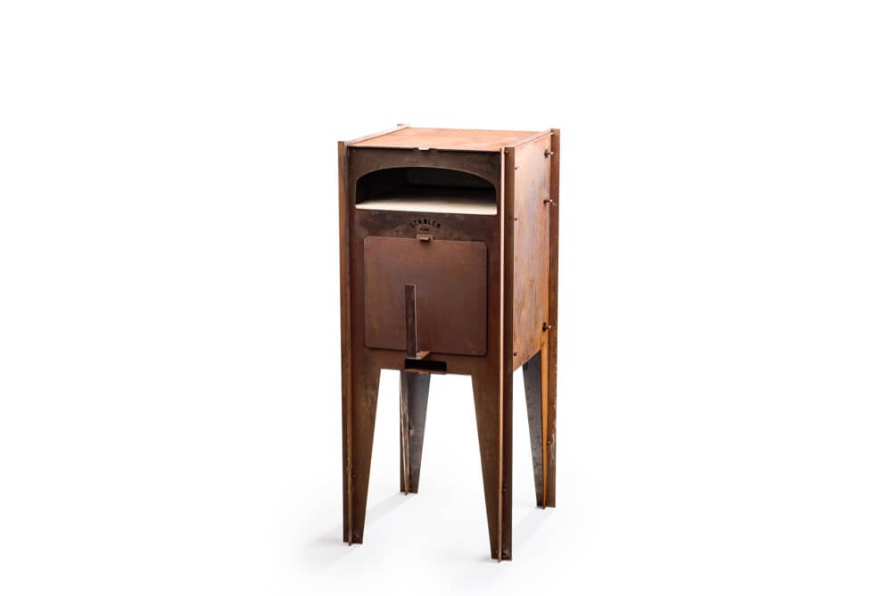 Outdoor Pizza Oven in corten steel by Städler Made at Different Like a Zoo