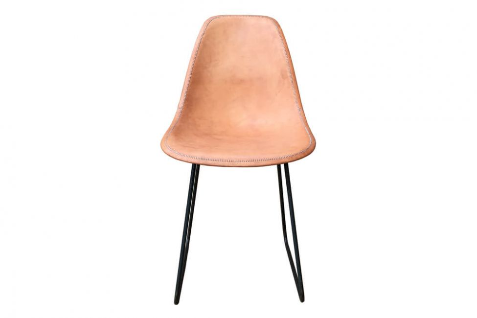 Sidney dining chair in natural leather by Sol & Luna