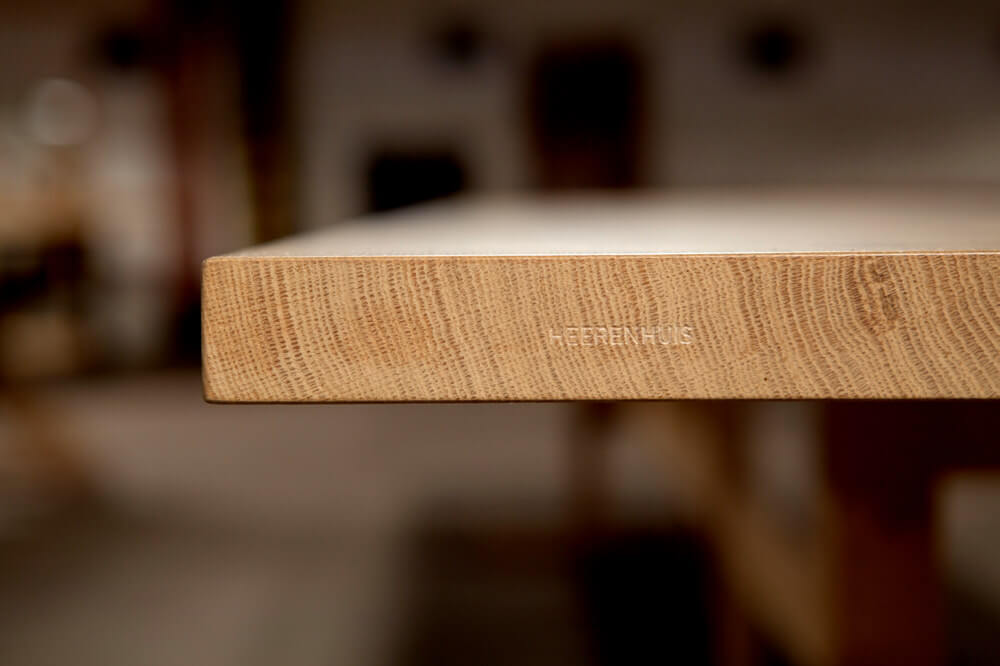 Trappist table (detail) in solid French Oak by Heerenhuis
