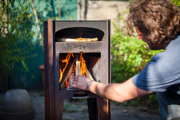 Outdoor Pizza Oven in corten steel by Stadler Made