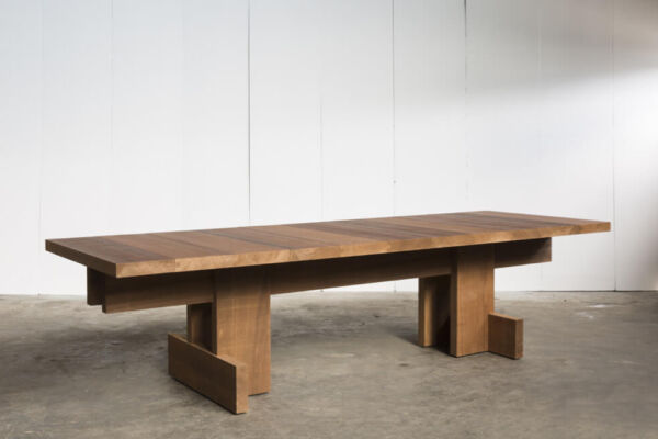 Kombinat table for indoors or outdoors - made to measure in African Ayous by Heerenhuis