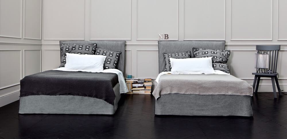 Ghost 80 bed designed by Paola Navone for Gervasoni