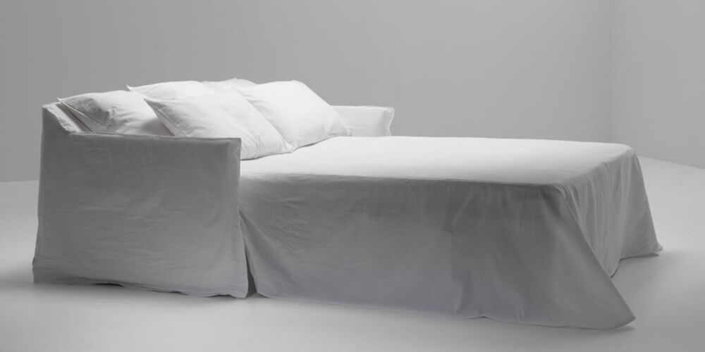 Ghost 13:  a double sofabed designed by Paola Navone for Gervasoni