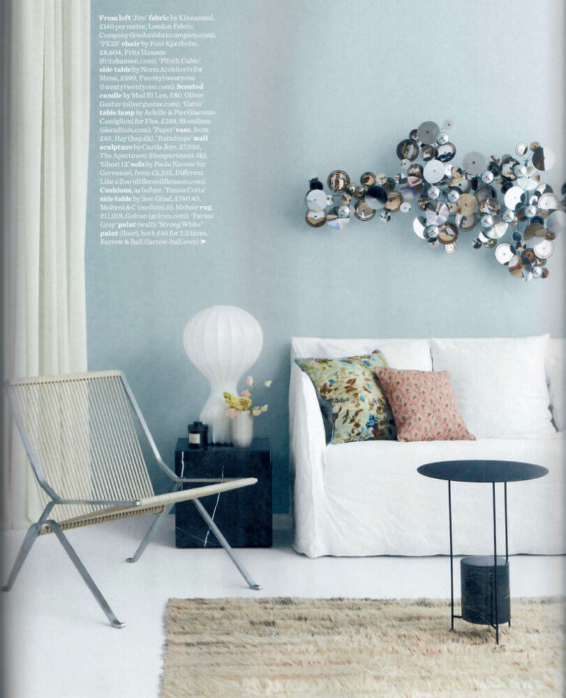 Ghost sofa in Lino Bianco designed by Paola Navone for Gervasoni - Elle Decoration UK August 2018