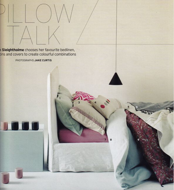 Ghost 80 bed designed by Paola Navone for Gervasoni – from House&Garden magazine