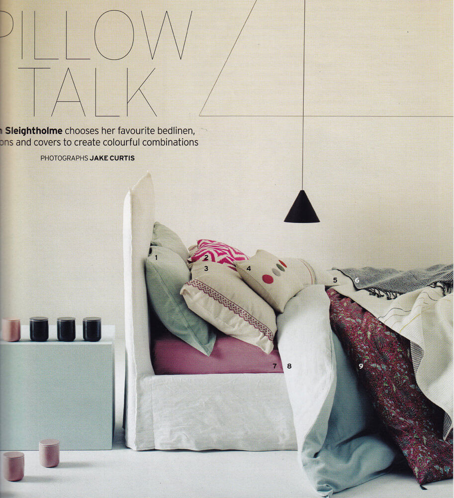 Ghost 80 bed designed by Paola Navone for Gervasoni - from House&Garden magazine