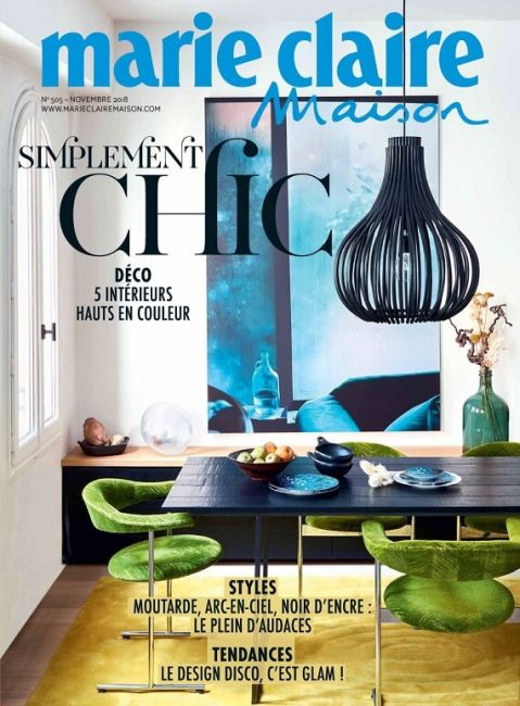 Marie Claire Maison Novembre 2018 featuring a Mesa Nero table by Heerenhuis