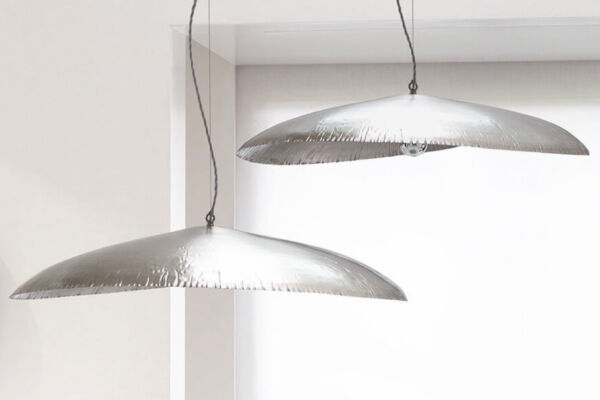 Silver 95 pendant lights by Gervasoni