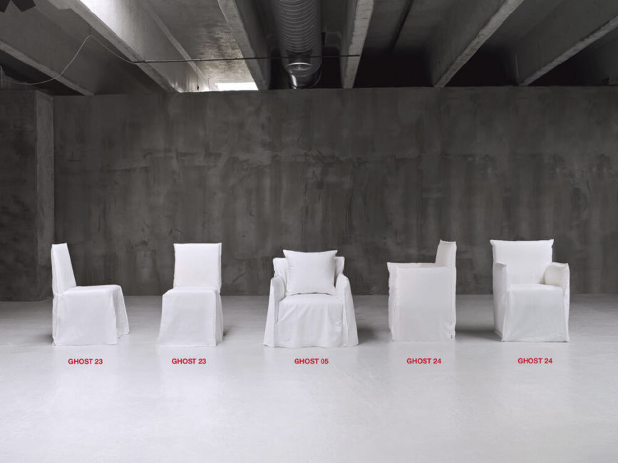 Ghost 23 dining chair: designed by Paola Navone for Gervasoni