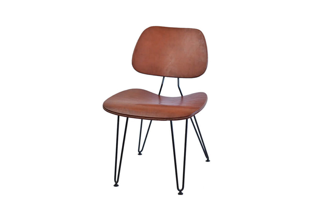 Nordic chair in brown leather by Sol & Luna