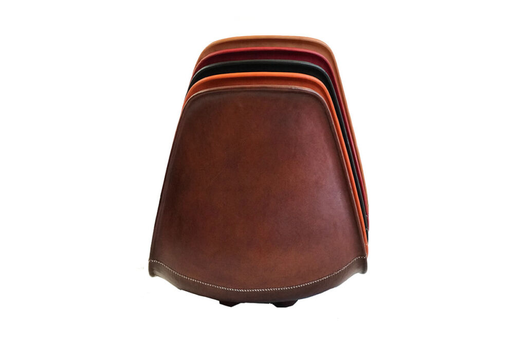 Sidney dining chair by Sol & Luna - main colour brown leather