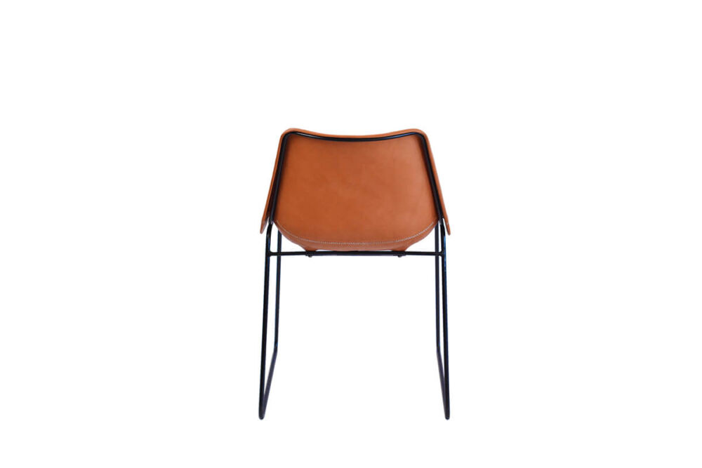 Giron dining chair in natural leather by Sol & Luna