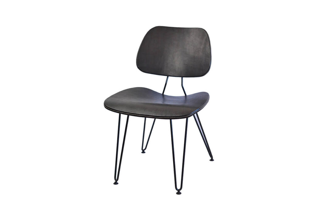 Nordic chair in black leather by Sol & Luna