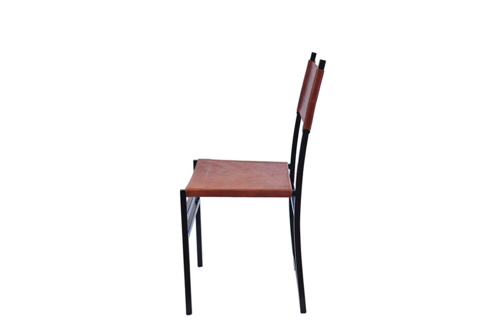 Luna dining chair in natural leather by Sol & Luna