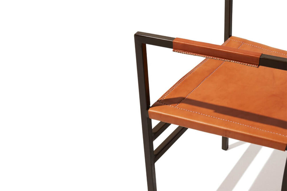 Sol armchair in natural leather by Sol & Luna