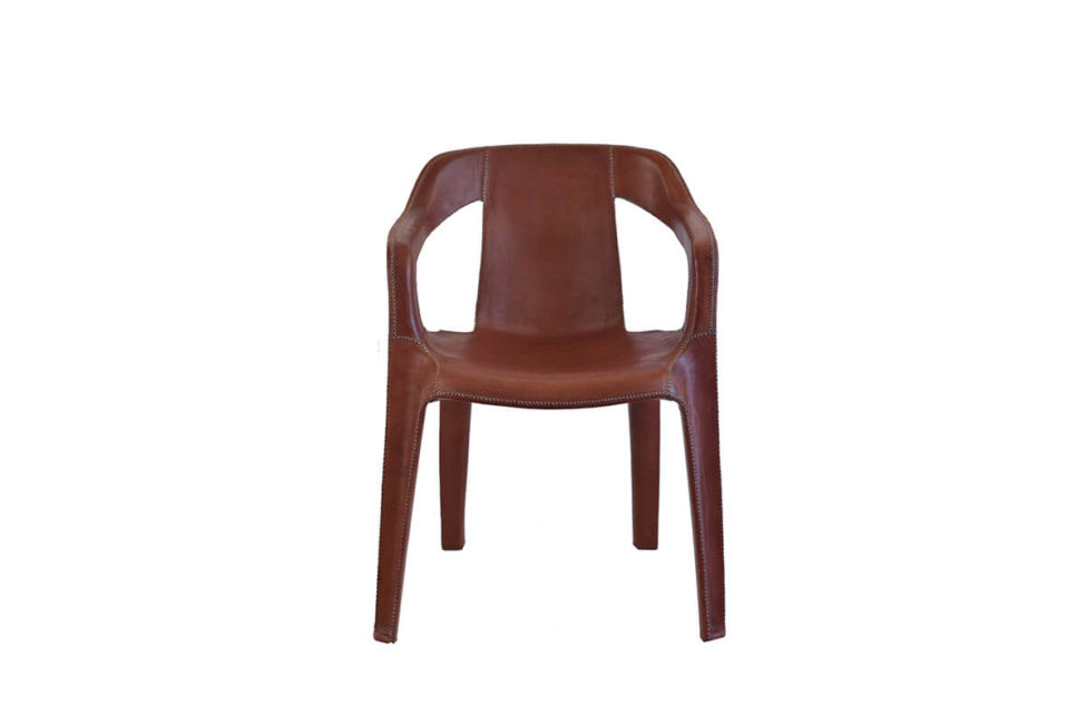 Cheap & Chic armchair in brown leather by Sol & Luna