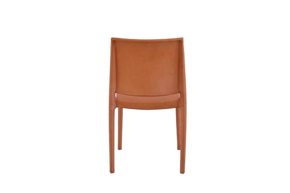 Pinasco dining chair in natural leather by Sol & Luna