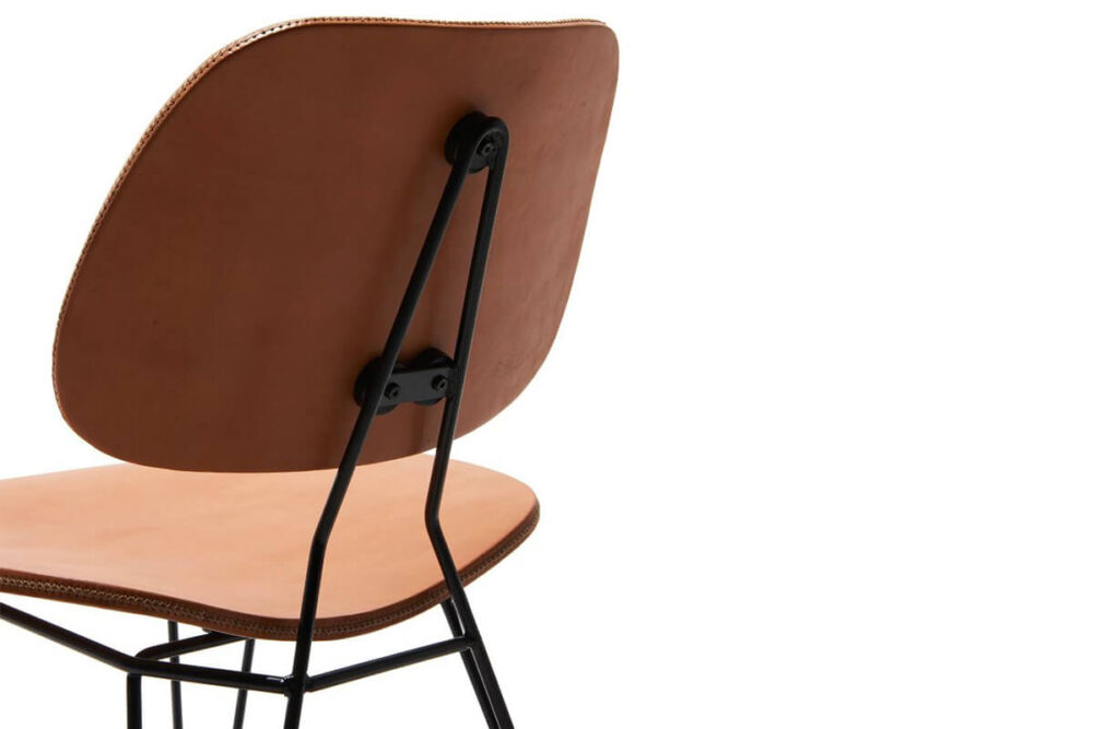 Nordic chair in natural leather by Sol & Luna