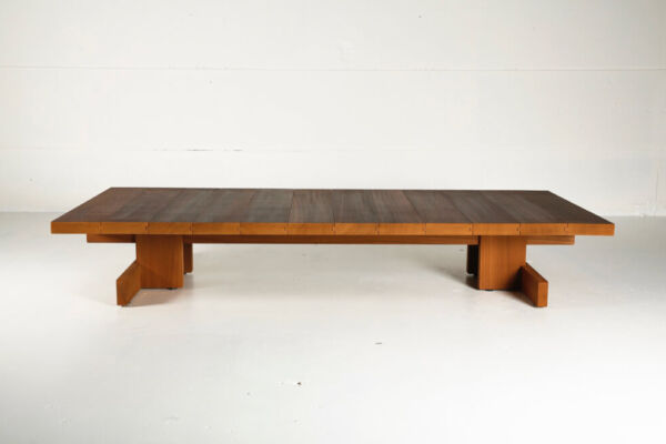 Kombinat coffee table for indoors or outdoors - made from African Ayous by Heerenhuis