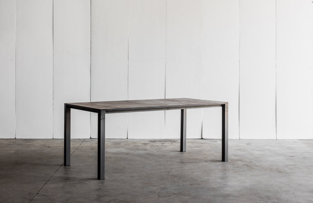 CTR table with leather top by Heerenhuis