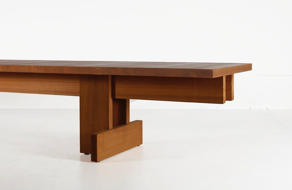 Kombinat table for indoors or outdoors - made in African Ayous by Heerenhuis