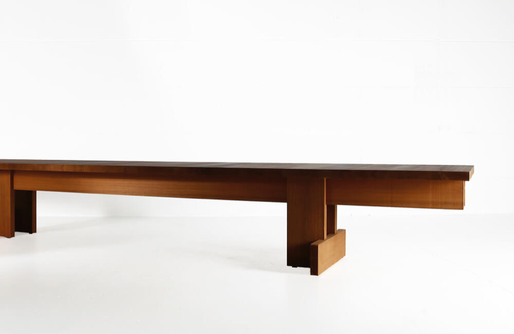 Kombinat table for indoors or outdoors – made in African Ayous by Heerenhuis
