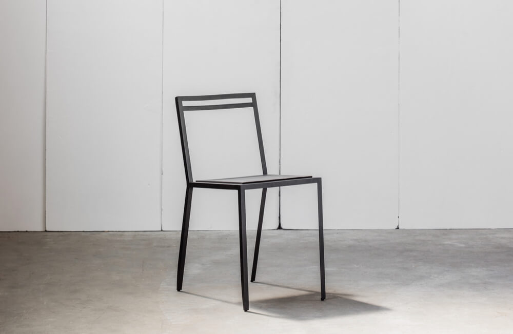 Rubber Chair made in metal and rubber by Heerenhuis