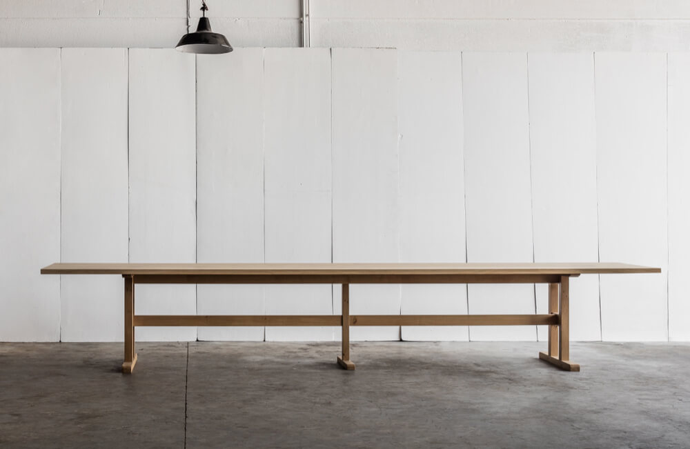Trappist table in solid French oak by Heerenhuis