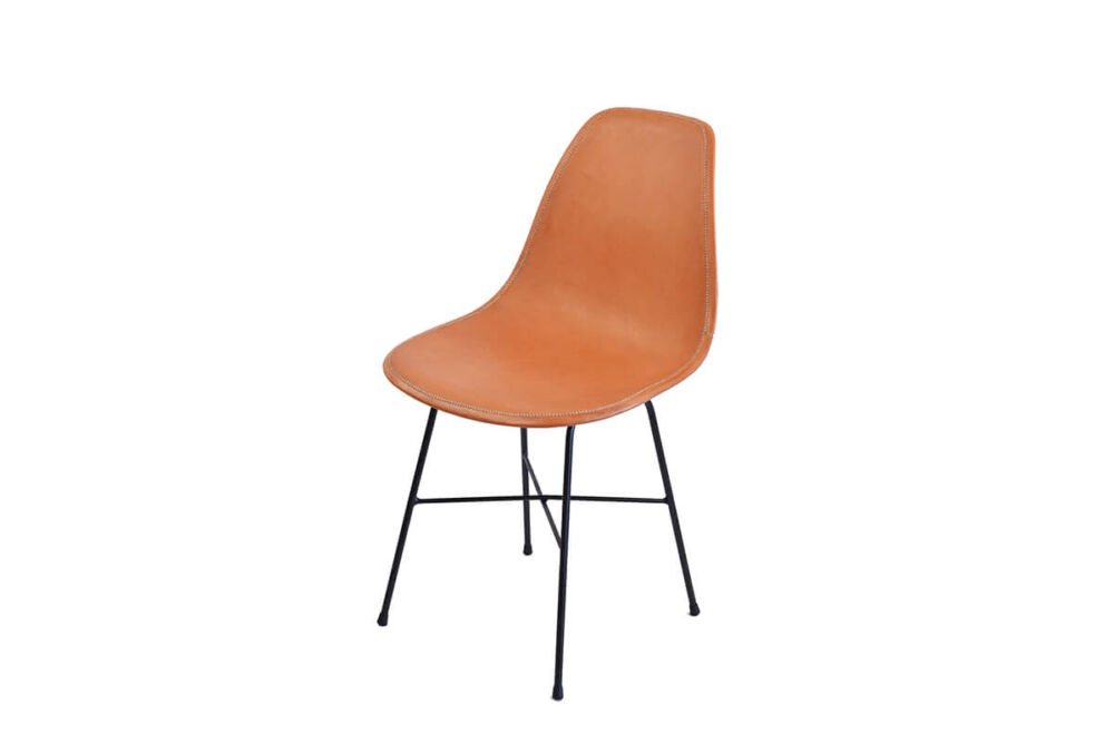 Hovy dining chair in natural leather by Sol & Luna