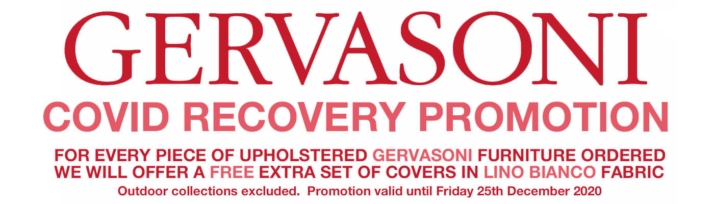 Gervasoni Covid Recovery Promotion for Ghost beds and Ghost sofas