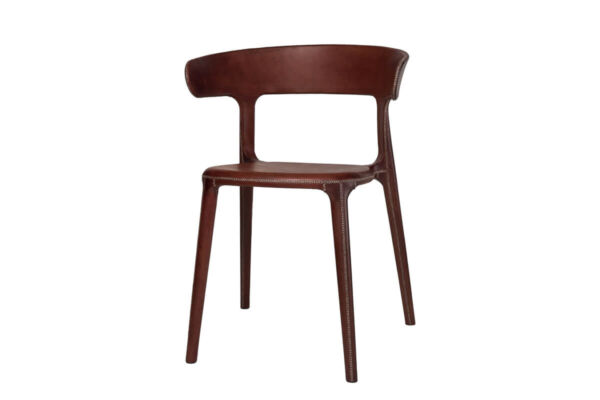 Carol chair in brown leather by Sol & Luna