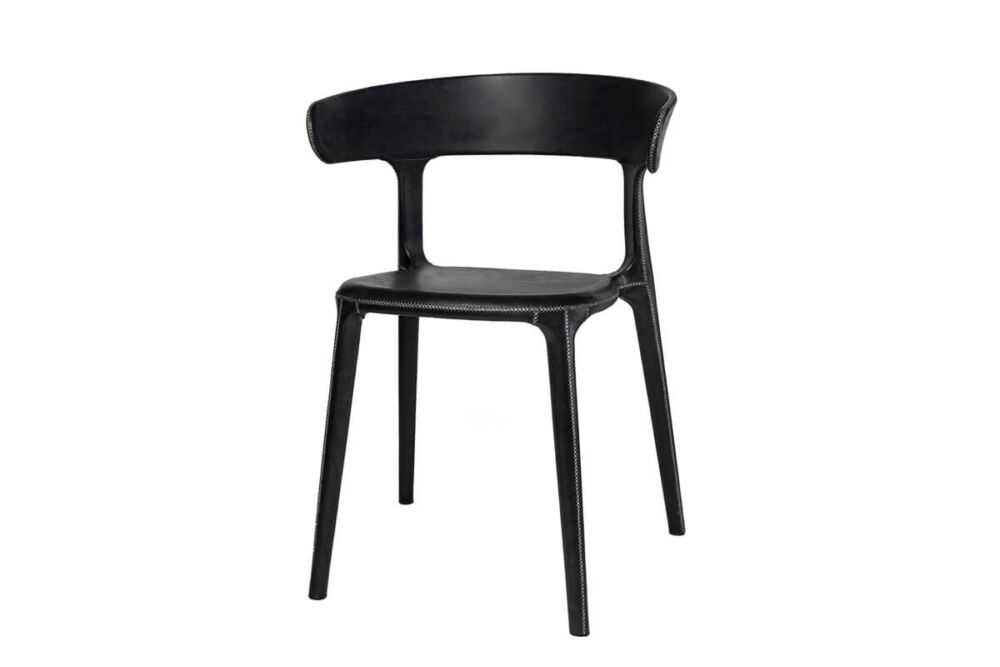Carol chair in black leather by Sol & Luna