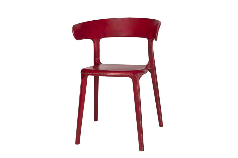 Carol chair in red leather by Sol & Luna